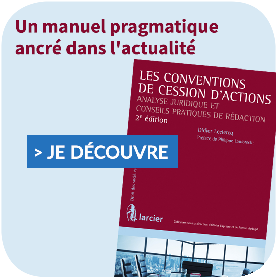 Les conventions de cession d'actions